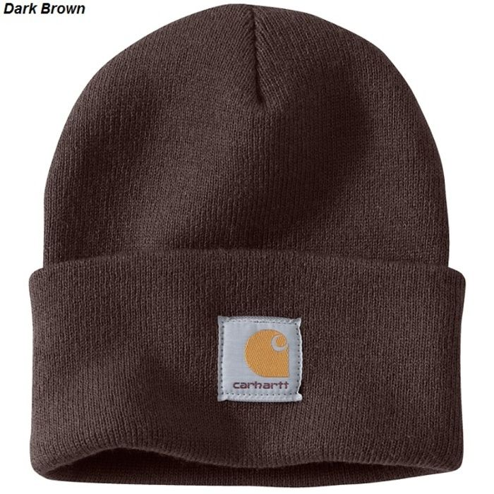 Шапка Carhartt A-18 Acrylic Watch Hat Dark Brown