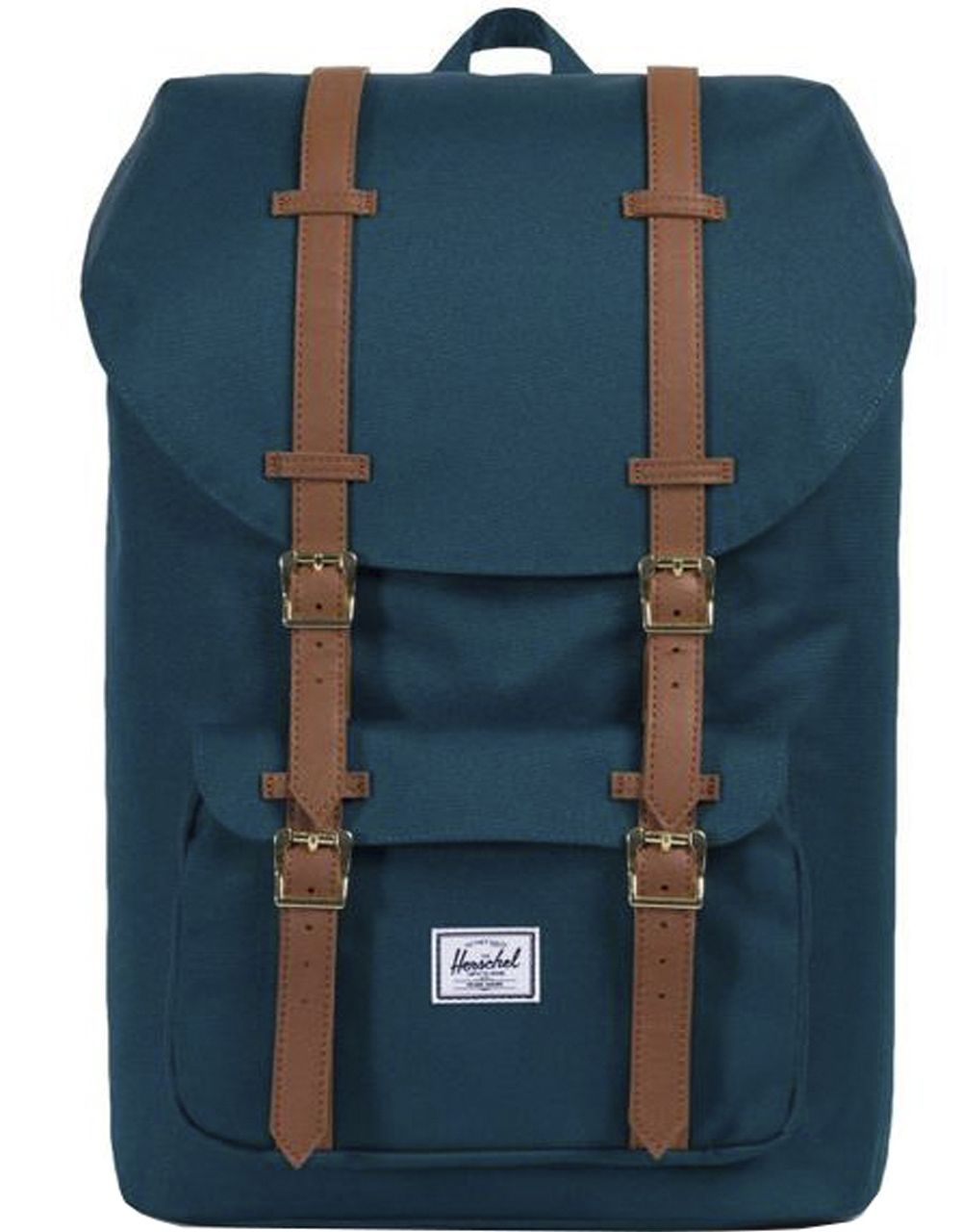 Рюкзак HERSCHEL LITTLE AMERICA  Deep Teal/Tan Synthetic Leather