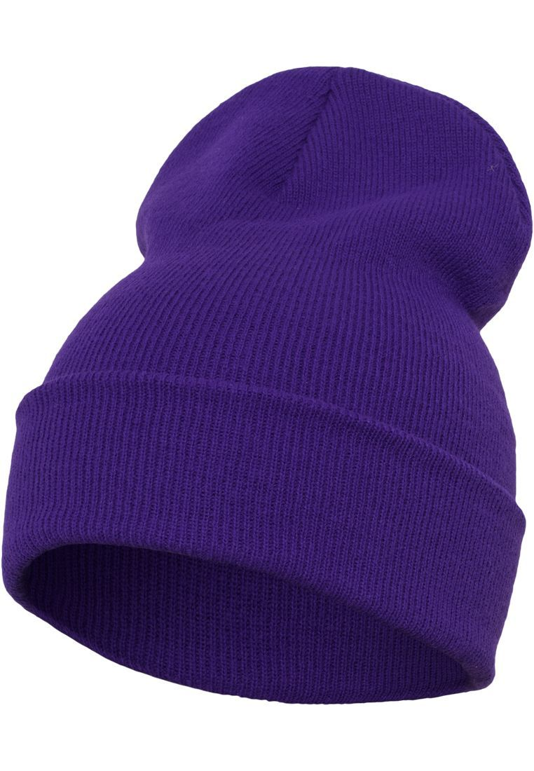 FLEXFIT Шапка Heavyweight Long Beanie purple