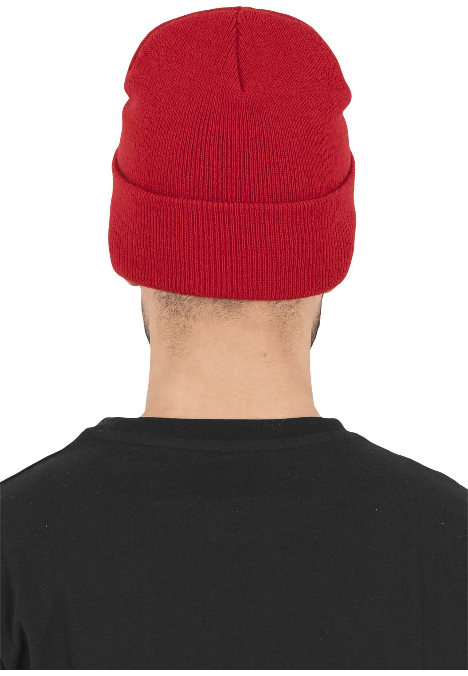 FLEXFIT Шапка Heavyweight Long Beanie red