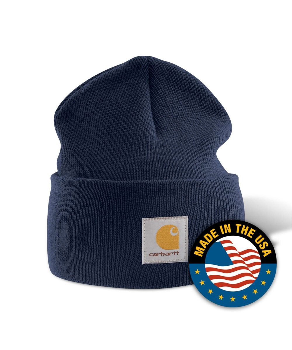 Шапка Carhartt A-18 Acrylic Watch Hat Navy