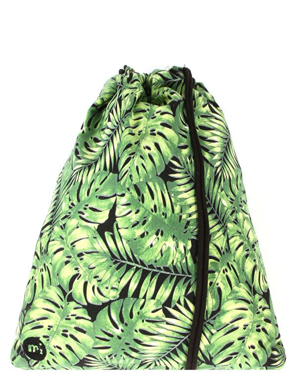Рюкзак-мешок холщовый Mi-Pac Premium Kit Gym Bag Tropical Leaf Black,13l