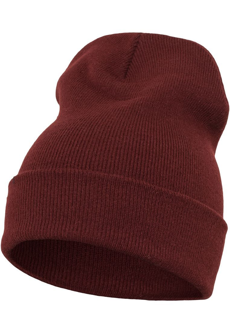 FLEXFIT Шапка Heavyweight Long Beanie maroon