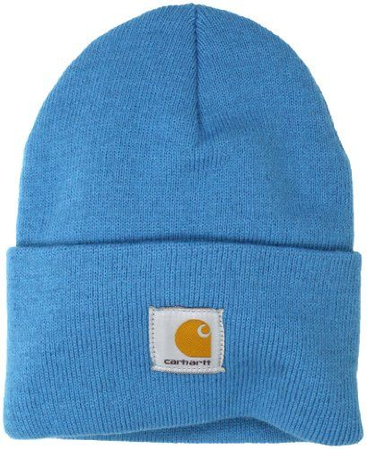 Шапка Carhartt WA018 Acrylic Watch Hat Aqua Blue