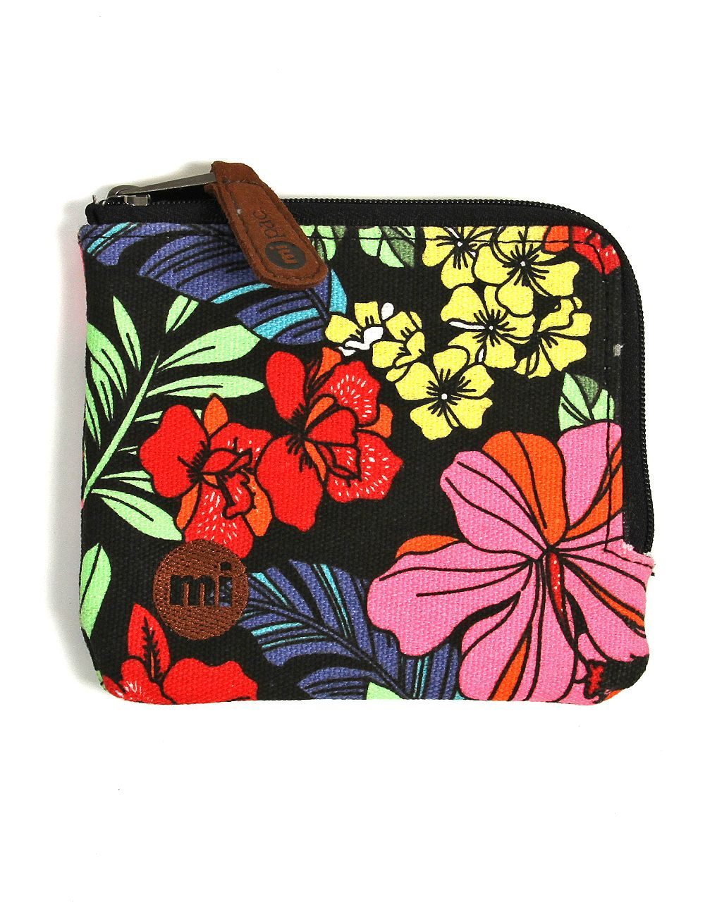 Mi-Pac Кошелек для монет  Coin holder Tropical Floral Neon Black