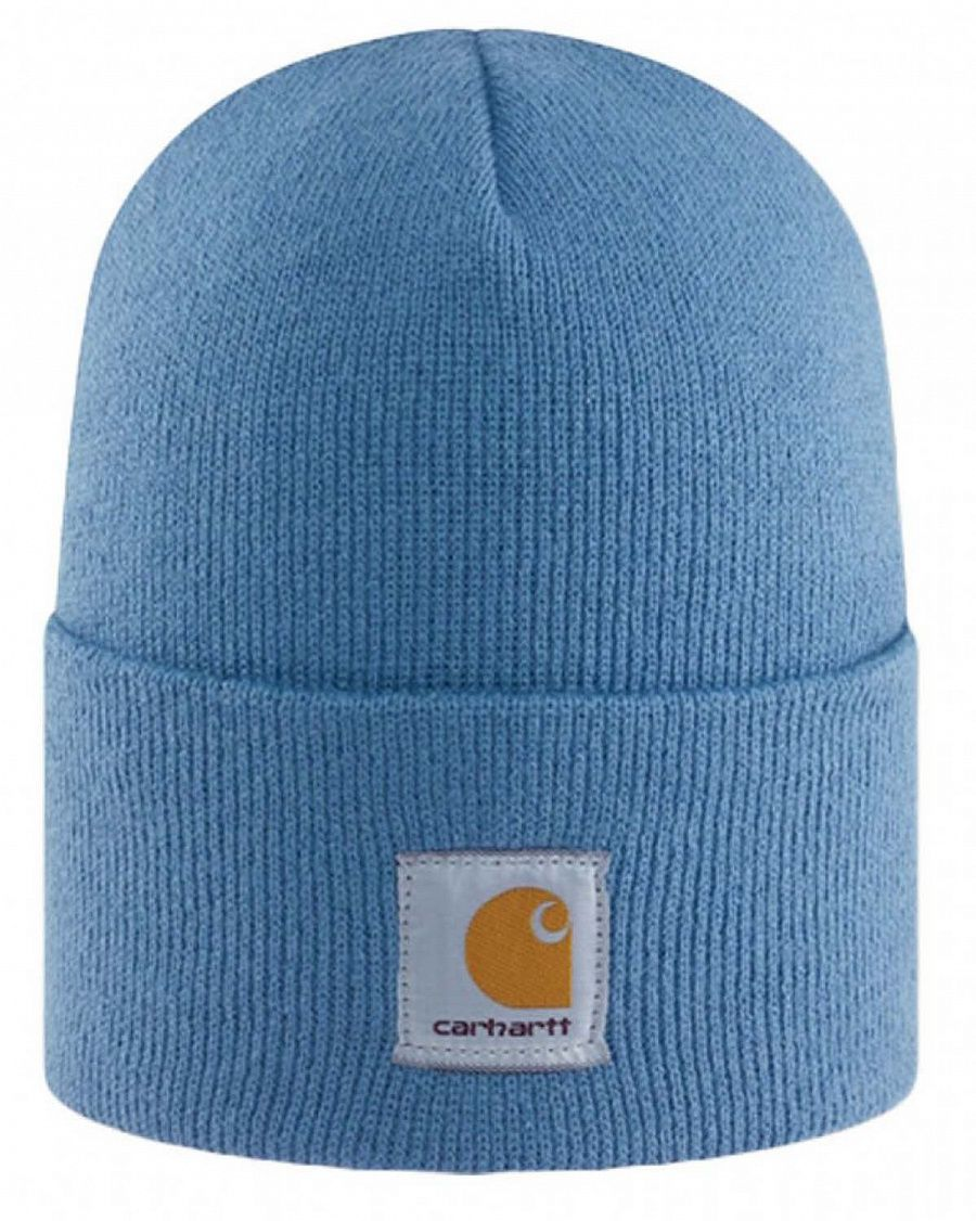 Шапка Carhartt WA018 Acrylic Watch Hat Patriot Blue