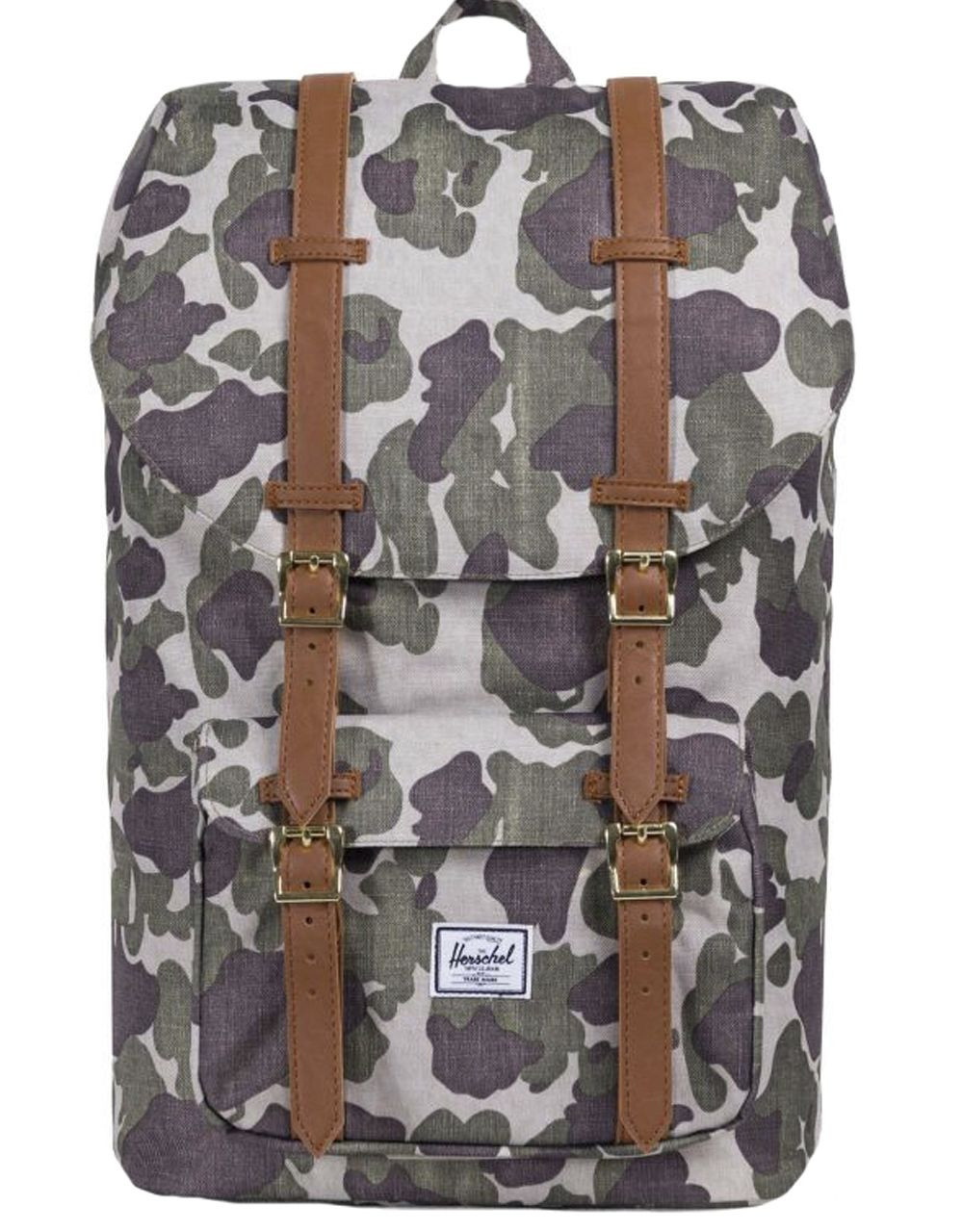 Рюкзак HERSCHEL LITTLE AMERICA Frog Camo/Tan Synthetic Leather