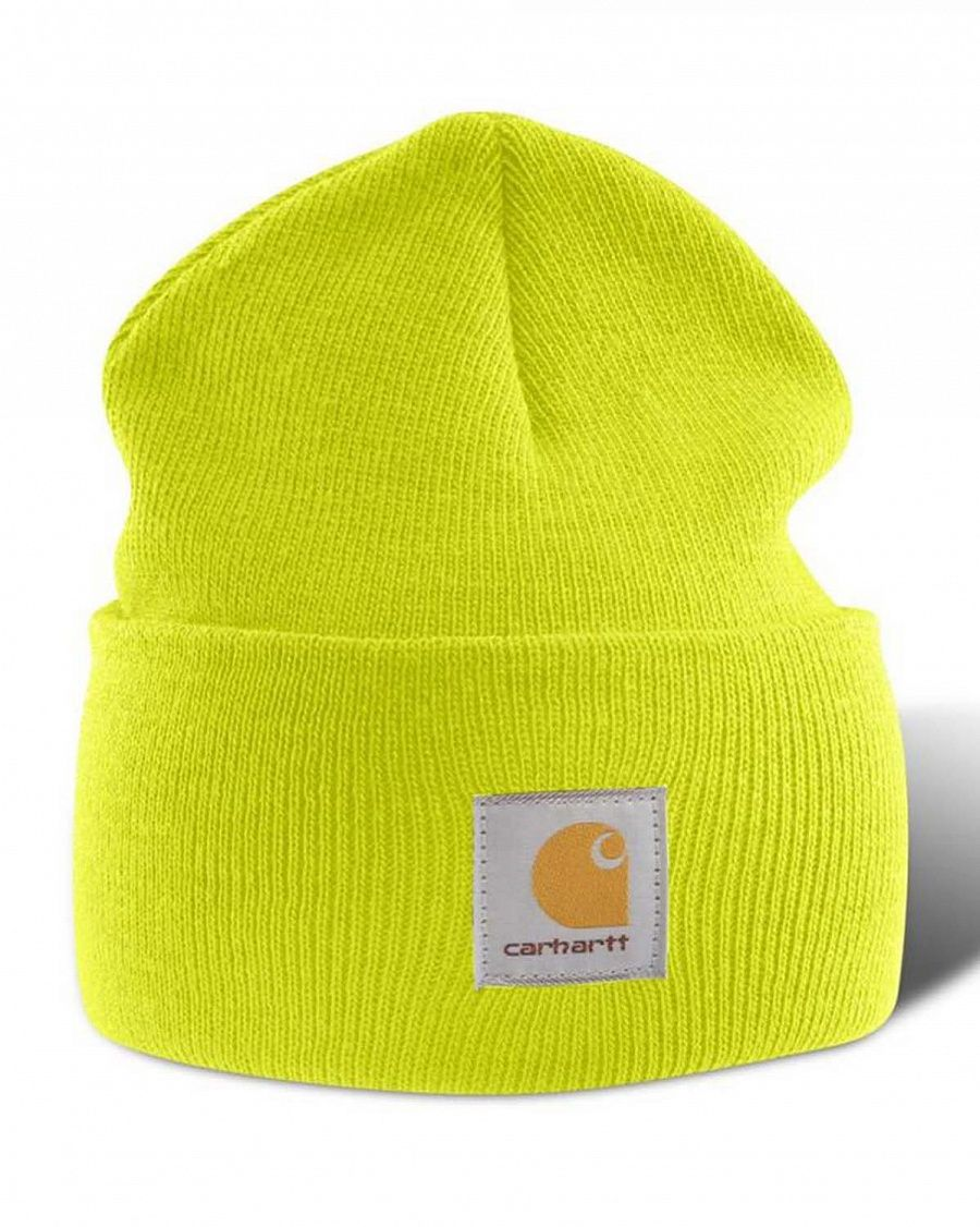 Шапка Carhartt A-18 Acrylic Watch Hat Bright Lime