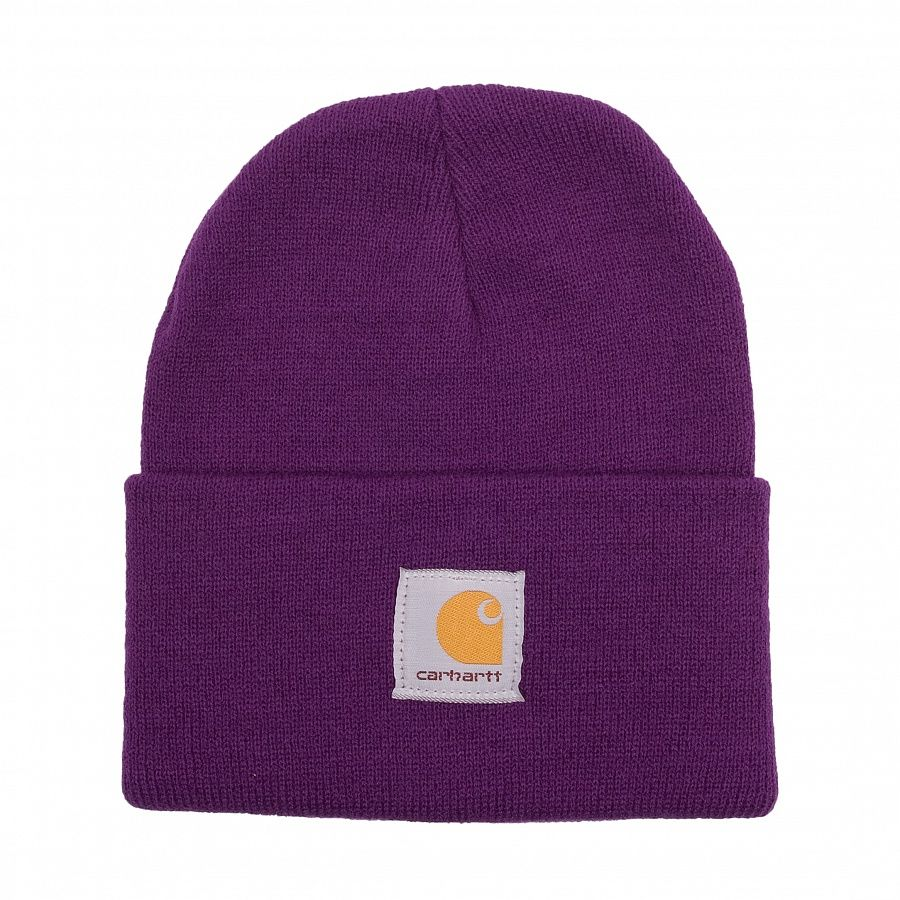 Шапка Carhartt WA018 Acrylic Watch Hat Bright Purple