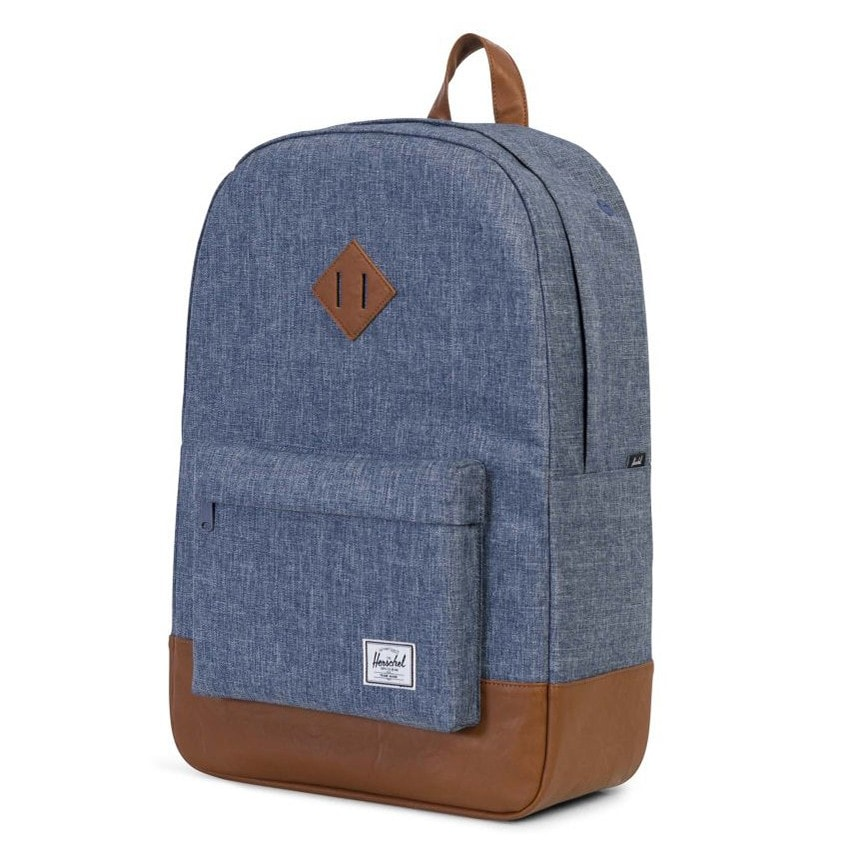 Рюкзак Herschel Heritage Dark Chambray Crosshatch/Tan Synthetic Leather 21,5l
