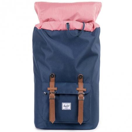 HERSCHEL рюкзак LITTLE AMERICA MID-VOLUME Navy/Tan Synthetic Leather