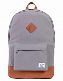 Рюкзак Herschel Heritage Mid-Volume Grey/Tan Synthetic Leather, 14,5l
