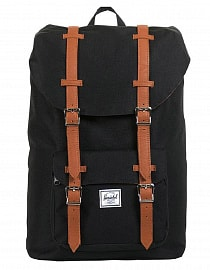 Рюкзак HERSCHEL  LITTLE AMERICA Black/Tan Synthetic Leather
