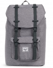Рюкзак HERSCHEL LITTLE AMERICA MID-VOLUME Light Grey Crosshatch/Grey Rubber, 17L