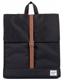 Рюкзак HERSCHEL CITY MID-VOLUME Black/Tan Synthetic Leather 10,5l