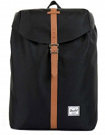 Рюкзак Herschel Post MID-VOLUME Black/Tan Synthetic Leather