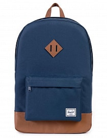 Рюкзак Herschel Heritage Navy/Tan Synthetic Leather, 21,5L