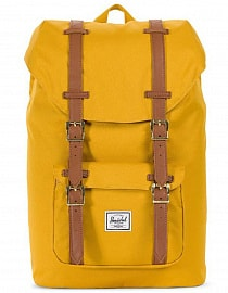 Рюкзак HERSCHEL LITTLE AMERICA MID-VOLUME Arrowwood/Tan Synthetic Leather, 17L