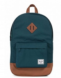 Рюкзак Herschel Heritage Mid-Volume Deep Teal/Tan Synthetic Leather, 14.5l