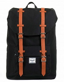 Рюкзак Herschel Little America 25l, Black/Tan Synthetic Leather