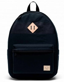 Рюкзак Herschel Heritage XL Premium Cotton Black , 30l