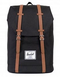 Рюкзак Herschel Retreat Mid-Volume 14l, Black/Tan Synthetic Leather