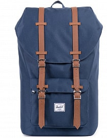 Рюкзак HERSCHEL  LITTLE AMERICA Navy/Tan Synthetic Leather