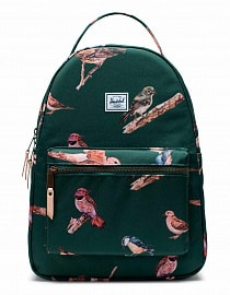 Рюкзак Herschel Nova Mid-Volume 18l, Dark Green Birds
