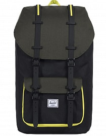 Рюкзак HERSCHEL LITTLE AMERICA Black/Forest Night/Evening Primrose