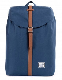 Рюкзак Herschel Post MID-VOLUME Navy/Tan Synthetic Leather