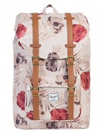 Рюкзак HERSCHEL LITTLE AMERICA MID-VOLUME Pelican Floria/Tan Synthetic Leather, 17L