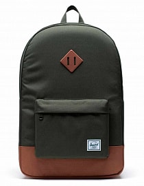 Рюкзак Herschel Heritage Dark Olive/Saddle Brown, 21,5l