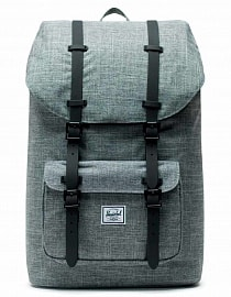 Herschel Little America Raven Crosshatch/Black, 25l