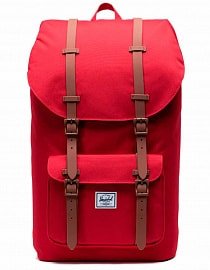 Рюкзак Herschel Little America 25l, Red/Saddle Brown