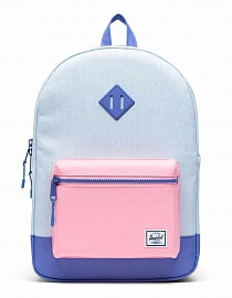 Рюкзак Heritage Youth X-Large 22, Ballad Blue Pastel Crosshatch/Candy Pink/Dusted Peri