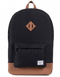 Рюкзак Herschel Heritage 21,5l Black/Tan Synthetic Leather