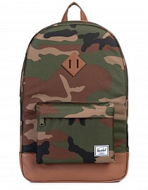 Рюкзак Herschel Heritage WOODLAND CAMO/TAN SYNTHETIC LEATHER 21,5l