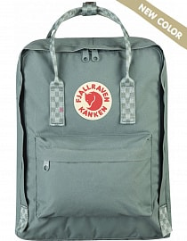 Рюкзак Fjallraven Kanken 16l Frost Green-Chess Pattern (New colour)