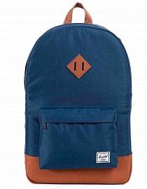 Рюкзак Herschel Heritage Mid-Volume Navy/Tan Synthetic Leather, 14,5l