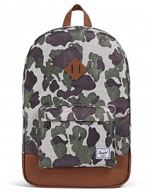 Рюкзак Herschel Heritage Frog Camo/Tan Synthetic Leather 21,5l