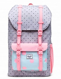 Рюкзак Herschel Little America Youth 18l, Polka Dot Crosshatch/Peony/Ballad Blue Peony Polka