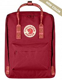 Рюкзак Fjallraven Kanken 16l,  Deep Red-Folk Pattern (New colour!)