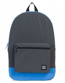 HERSCHEL рюкзак PACKABLE DAYPACK Black Reflective/Neon Blue Reflective