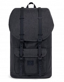 Рюкзак HERSCHEL  LITTLE AMERICA Black Crosshatch/Black/White