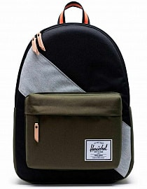 Рюкзак Herschel Classic X-Large 30l, Black/Ivy Green/Light Grey Crosshatch