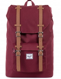 Рюкзак HERSCHEL LITTLE AMERICA MID-VOLUME WINDSOR WINE/TAN SYNTHETIC LEATHER, 17L