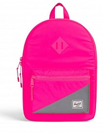 HERSCHEL рюкзак детский HERITAGE Kids Neon Pink Reflective/Silver Reflectiveб 9l