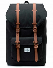 Рюкзак HERSCHEL Little America Black/Saddle Brown, 25l