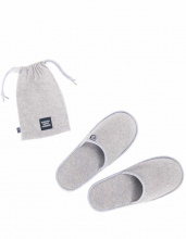 Тапочки кашемировые Cashmere Slippers Heathered Grey, L/XL