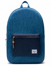 Рюкзак Herschel Settlement Faded Denim/Indigo Denim, 23l